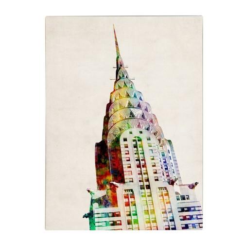 Trademark Fine Art Michael Tompsett 'Chrysler Building' Canvas Art 24x32 Inches