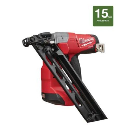 Milwaukee M18 FUEL 18-Volt Lithium-Ion Brushless Cordless 15-Gauge Angled Finish Nailer (Tool-Only)