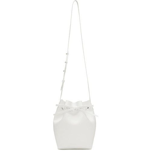 White Leather Mini Bucket Bag