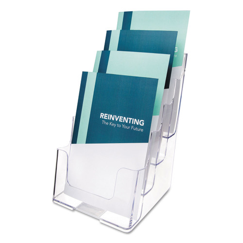 Deflect-O DEF77901 Multi Compartment DocuHolder, Four Compartments, 6 7/8w x 6 1/4d x 10h, Clear