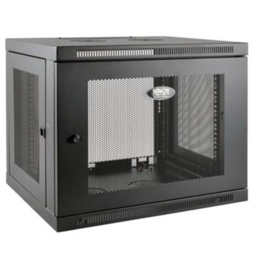 Tripp Lite SmartRack 9U Wall Mount Low-Profile Switch-Depth-Plus Rack Enclosure Cabinet, Black (SRW9UDP)