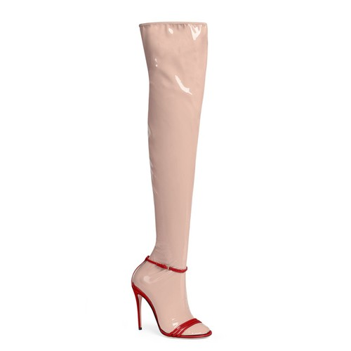 GUCCI Ilse 2-In-1 Latex Boots