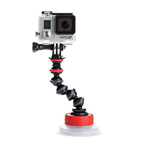 JOBY Suction Cup with GorillaPod Arm for GoPro HERO6 Black, GoPro HERO5 Black, GoPro HERO5 Session, Contour and Sony Action Cam [GorillaPod Arm]