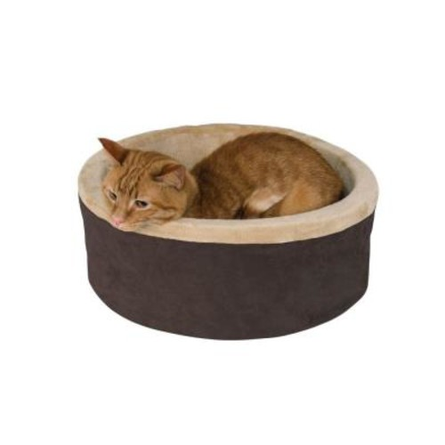 K&H Pet Products Thermo-Kitty Large Mocha Heated Cat Bed