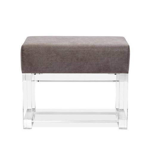 Avalon Stool in Grey Velvet design by Interlude Home