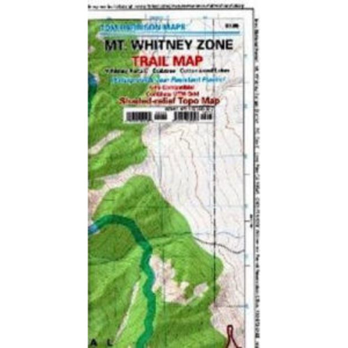 Map MT Whitney Zone CA