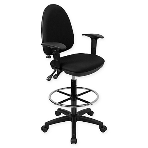 Flash Furniture Drafting Stool in Black