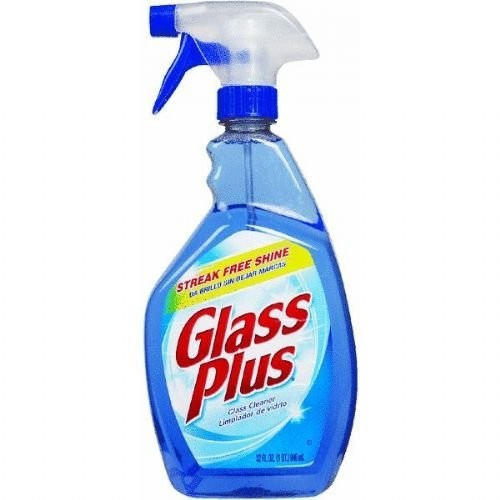 Glass Plus Glass Cleaner, 32 fl oz Bottle, Multi-Surface Glass Cleaner