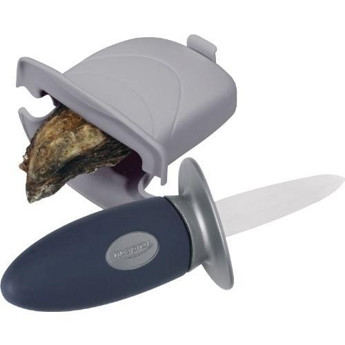 Trudeau Oyster Knife Set [oyster knife with holder]