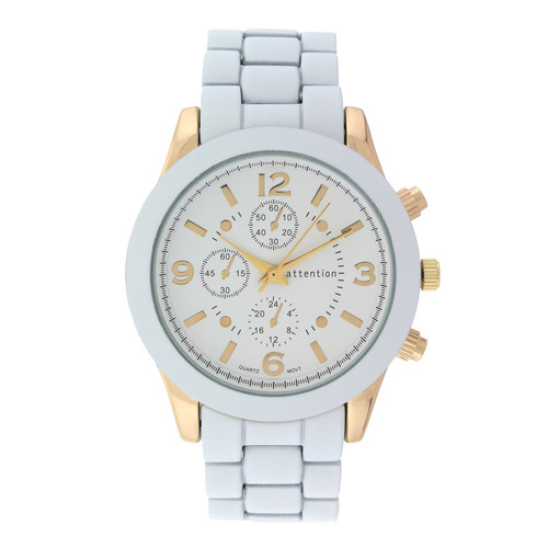 Attention Ladies White Bracelet Watch