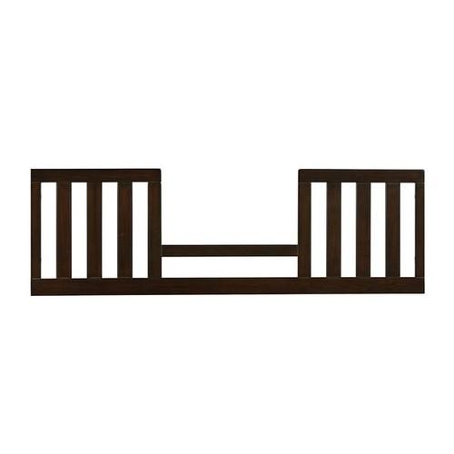 Emporium Convertible Crib Brown Wood Toddler Guard Rail