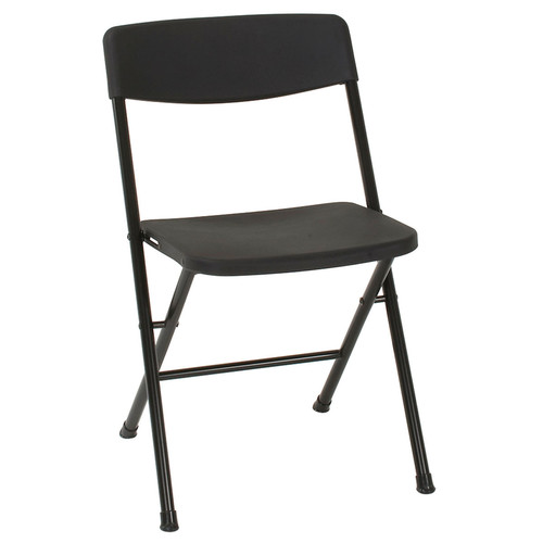 Cosco Home and Office Products 4-Pack Molded Seat & Black Back Resin Folding Chair