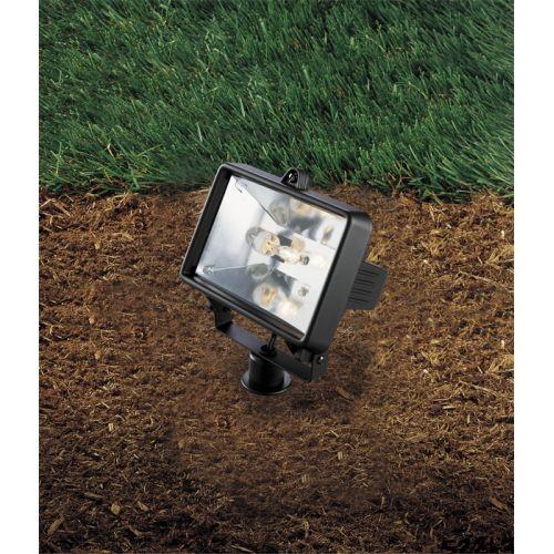 Progress Lighting Low-Voltage 50-Watt Black Landscape Spotlight