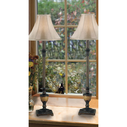 Kenroy Home 30944 Emily Buffet Lamp, 2 Pack, Crackle Bronze [crackle bronze]