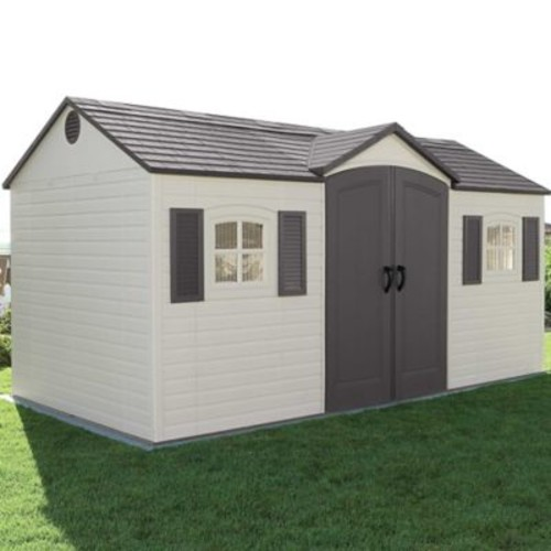 Lifetime Side Entry 14 ft. 8 in. W x 7 ft. 8 in. D Plastic Storage Shed