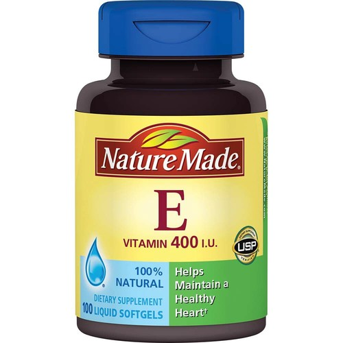 Nature Made Vitamin E, 400 IU, Liquid Softgels, 100 softgels
