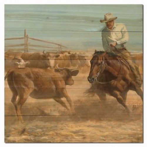 WGI GALLERY Working Girl by Persis Clayton Weirs Painting Print Plaque; 24'' H x 24'' W x 1'' D