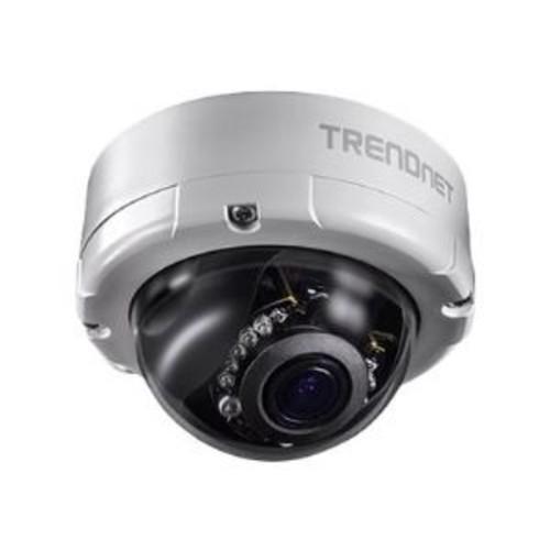 TRENDnet Indoor/Outdoor 4MP Varifocal PoE IR Dome Network Camera - 20m, Night Vision, Pan/Tilt/Zoom, Power Over Ethernet Port, MicroSD Card Slot, CMOS - TV-IP345PI
