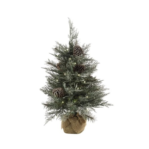 Martha Stewart Living 2.5 ft. Pre-Lit Frosted Mountain Spruce Artificial Christmas Tree with 50 Warm White Lights