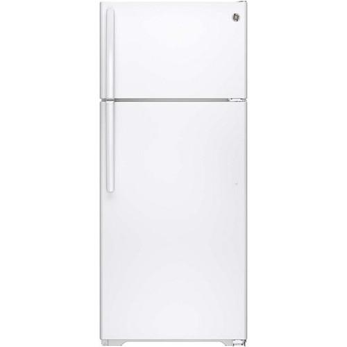 GE GTE18CTHWW ENERGY STAR 17.5 Cu. Ft. Top-Freezer Refrigerator