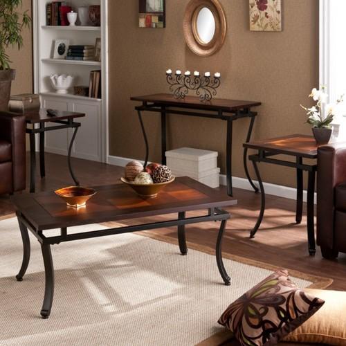 Southern Enterprises Modesto Tables, Espresso, Set Of 4