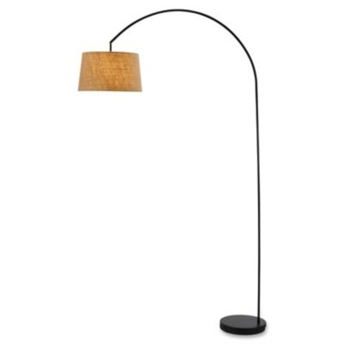 Adesso Goliath Arc Floor Lamp in Matte Black