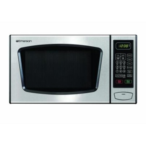 Emerson 0.9 cu. ft. Countertop Microwave Oven in Stainless Steel