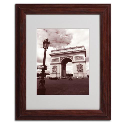 Kathy Yates 'Arc de Triomphe' Framed Mattted Art - Brown