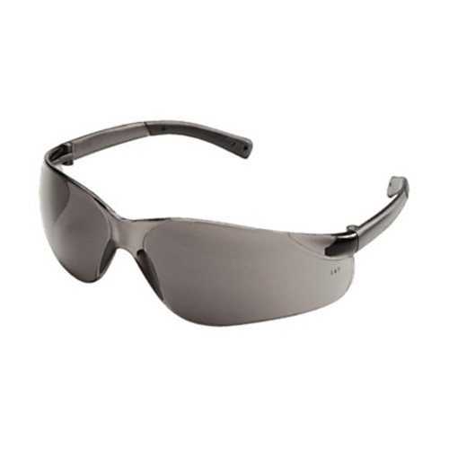 Crews Glasses 135-BK112 BearKat Safety Glass with Gray Temple, Gray Lens
