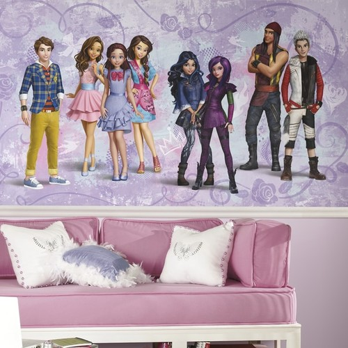 Descendants XL 6-foot x 10.5-foot Chair Rail Ultra-strippable Prepasted Mural