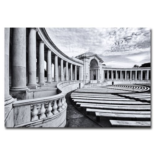 Arlington National Cemetery- Amphitheater by Gregory O'Hanlon, 16x24-Inch Canvas Wall Art