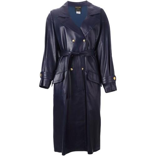 CÉLINE VINTAGE Belted Leather Coat