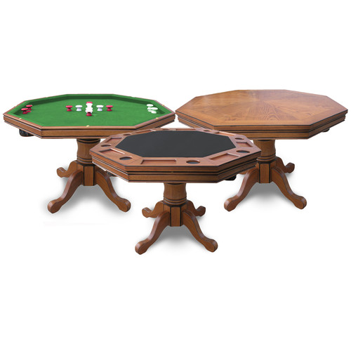 Hathaway Kingston Oak 3-in-1 Poker Table