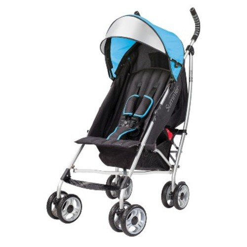 Summer Infant 3D Lite Convenience Stroller with Stroller Fan, Blue