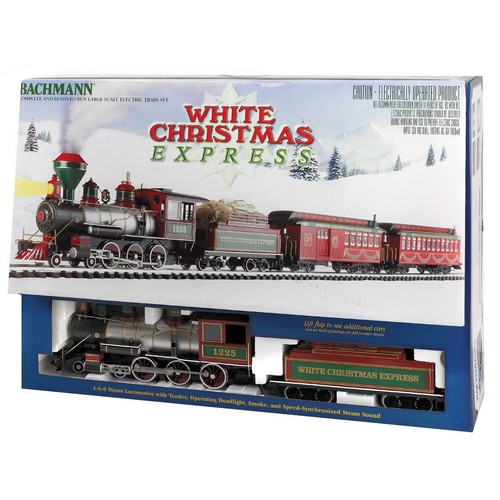 Bachmann Trains Ready to Run White Christmas Express G Scale Electric Train Set