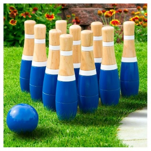 Hey! Play! 8 Inch Wooden Lawn Bowling Set
