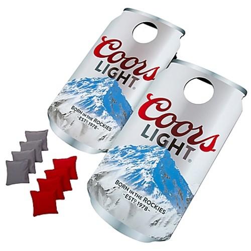 Coors Light Can Cornhole Bean Bag Toss Game
