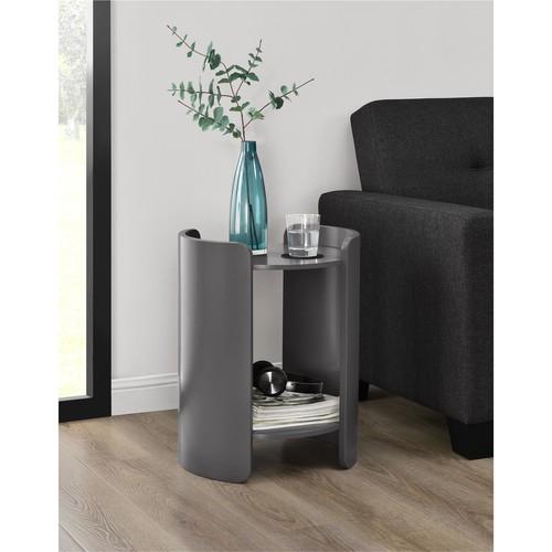 Dorel Turner Dark Gray Side Table