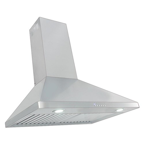 Proline Range Hoods 30 in. 900 CFM Ducted Wall Mount with Light in Brushed Stainless Steel