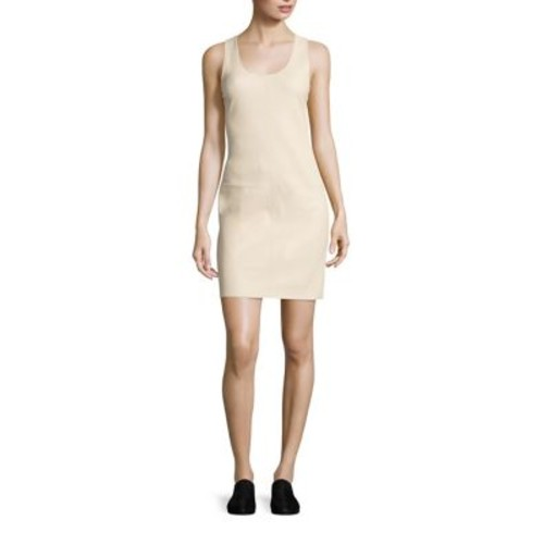 HELMUT LANG Leather Racerback Dress