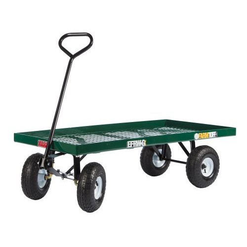 Farm Tuff Metal Deck Wagon, 24-Inch by 48-Inch, Green