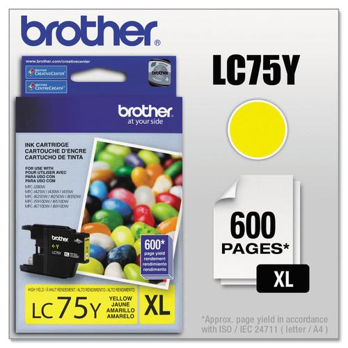 Brother BRTLC75Y LC75Y Innobella High-Yield Ink, Yellow