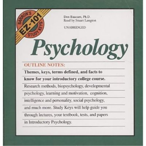 Barron's Ez 101 Study Keys: Psychology (Barron's EZ-101 Study Keys (Audio)) Don Baucum Audio CD