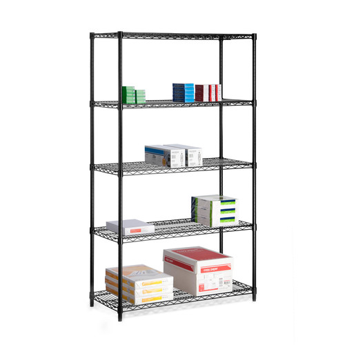 Honey Can Do Urban 5-Shelf Steel Storage Shelving Unit, Black