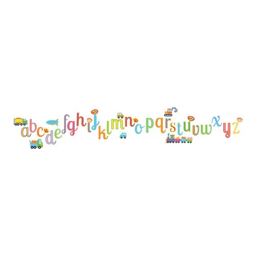 Brewster 19.7 in. x 12.2 in. Alphabet Wall Decal