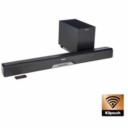 Klipsch Reference Series Multi-Room Ready Soundbar and 6.5 Wireless Subwoofer System