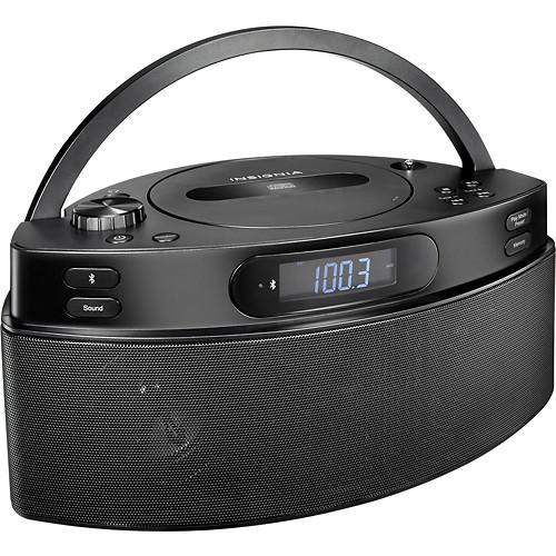 Insignia - CD Boombox with AM/FM Radio - Black