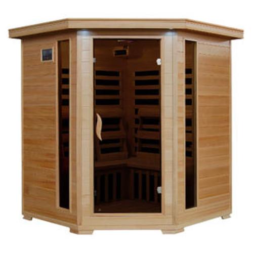 Radiant Saunas 4 Person Corner Carbon FAR Infrared Sauna - BSA2420