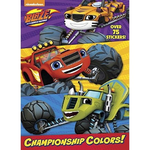 Blaze and the Monster Machines Blast Championship Colors! Jumbo Coloring Book with Stickers