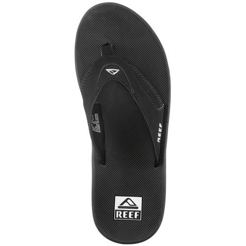 REEF Mens Fanning Flip-Flops, Black